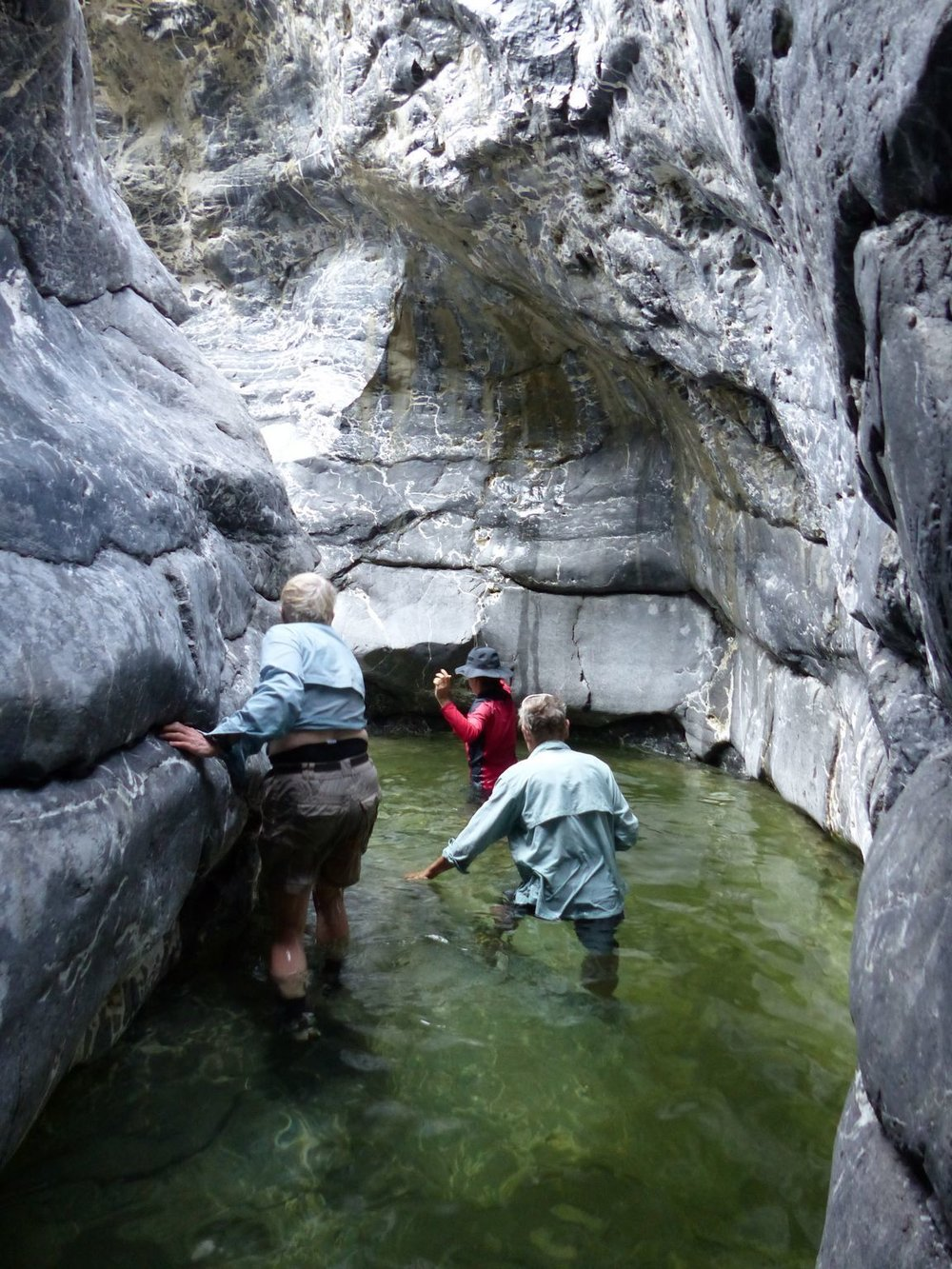Explorers in Lafferty's Canyon.