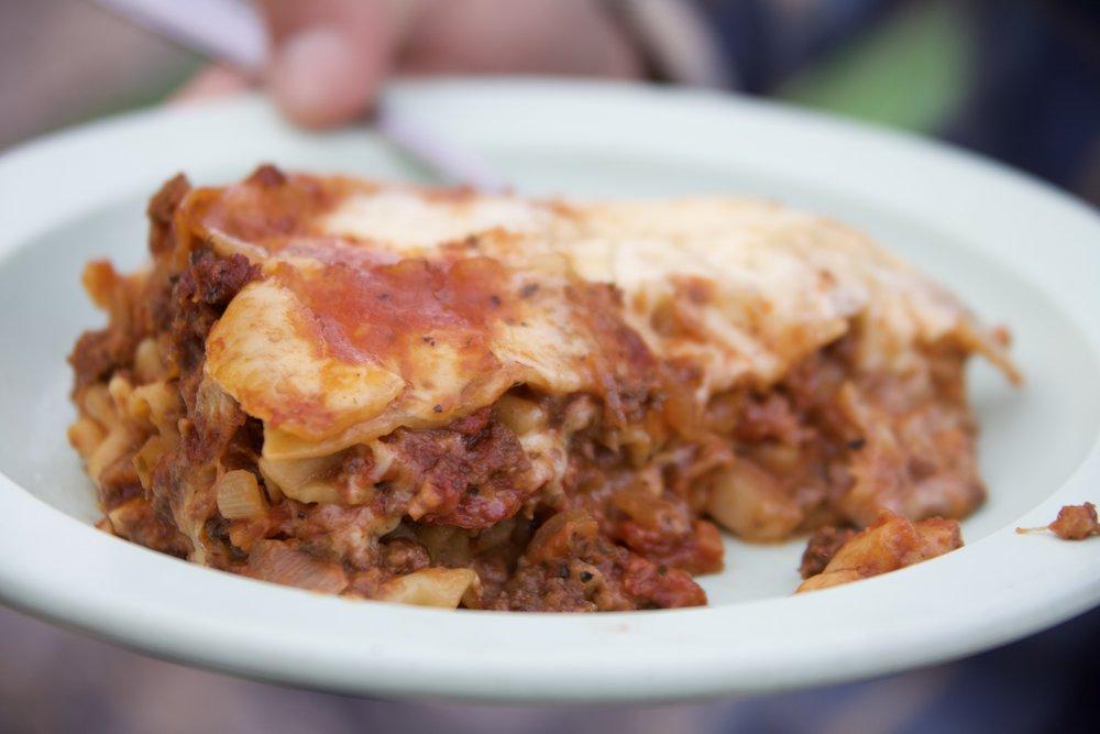 Classic Nahanni River lasagna.