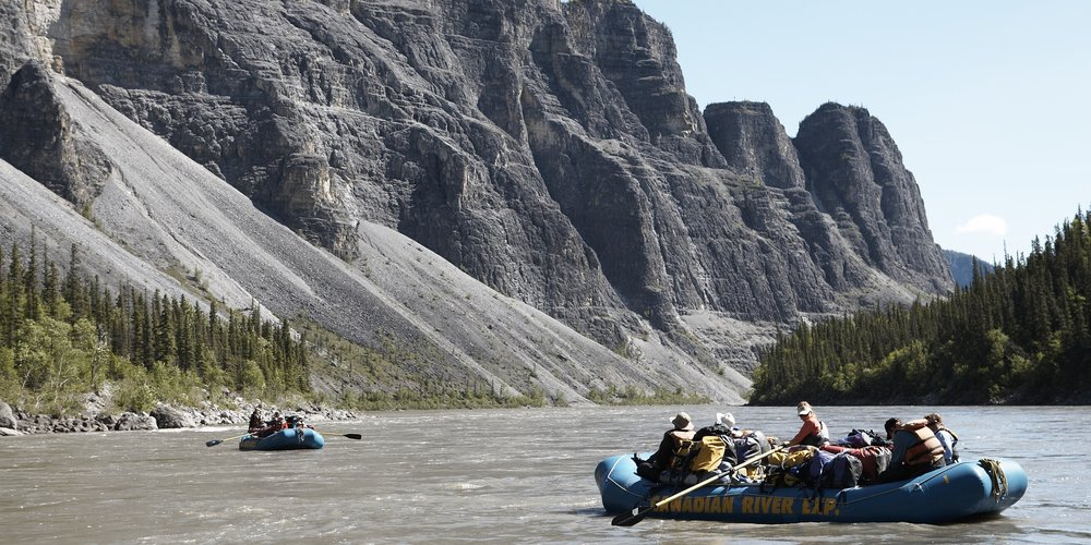 Canada's deepest river canyons on the Nahanni River. Nahanni National Park and UNESCO World Heritage Site, NWT.  Photographer: Noel Hendrickson
