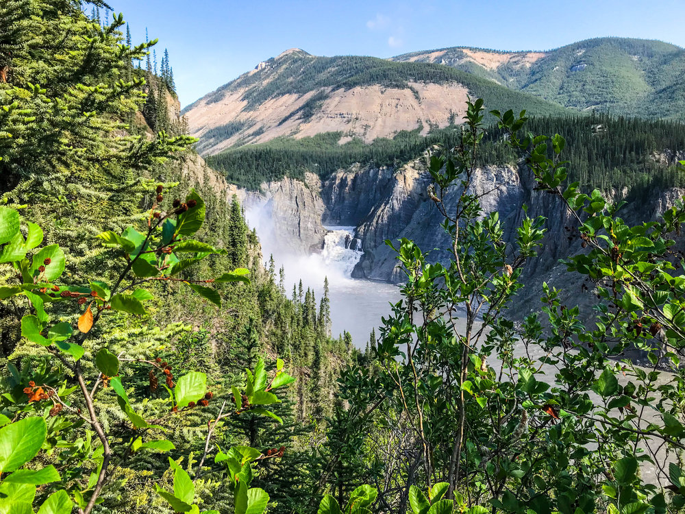 View from the Virginia Falls portage trail. Photo: Joseph Homsy