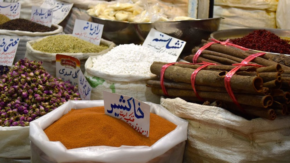 Burrows and Bird Persian cooking event, spices in the bazaar.jpg