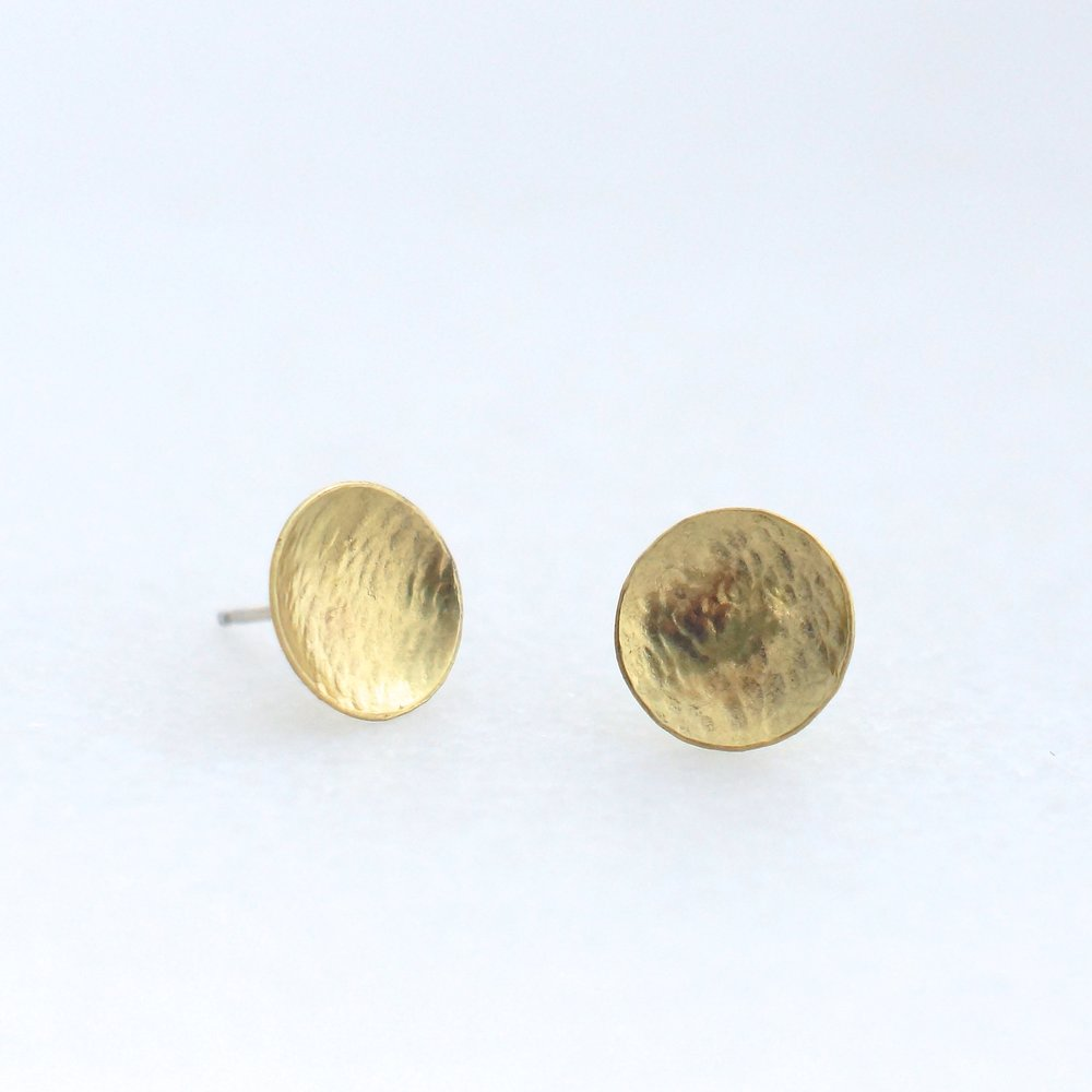 Brass Full Moon SS Stud Earrings                        $12.50