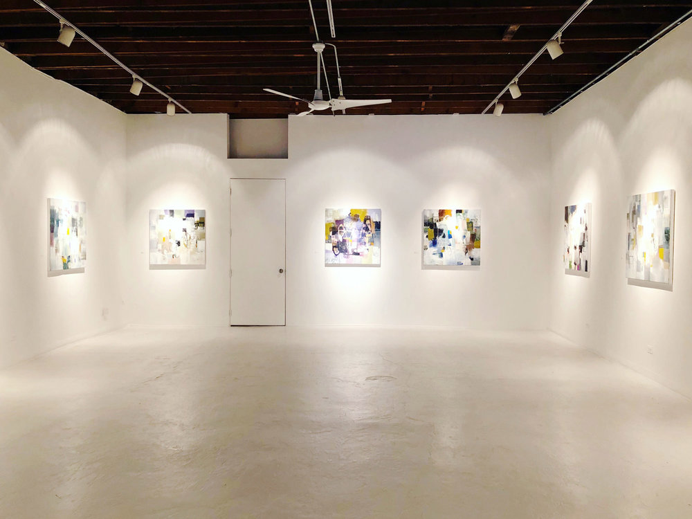 Solo show back gallery room