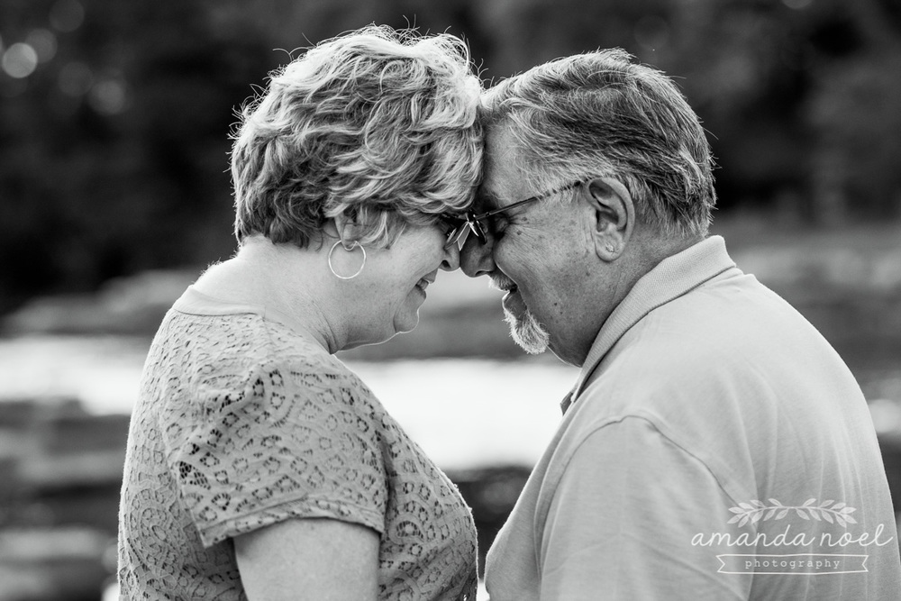 Springfield OH Lifestyle Couple Photographer | Amanda Noel Photography | older couple love and fun with motorcycle golden hour sunset