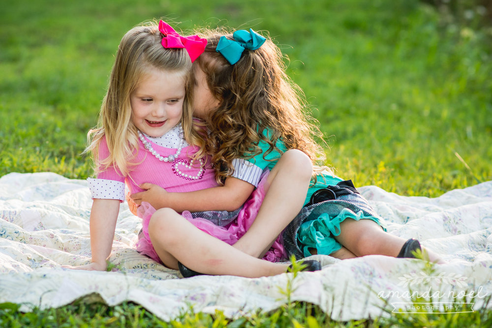 springfield ohio lifestyle family photographer | Amanda Noel Photography | twin girls 4th birthday | secret