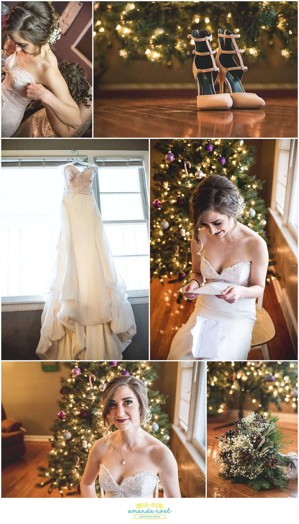 Springfield Ohio Winter wedding bride + details | Amanda Noel Photography