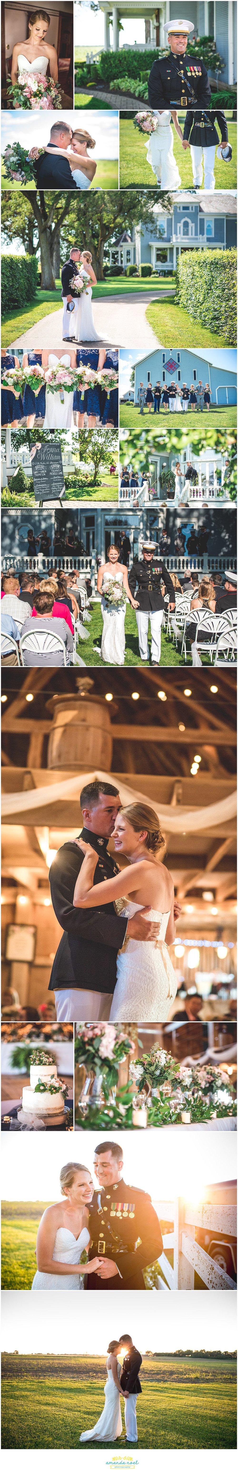 Ohio farm outdoor summer wedding sneak peak | Amanda Noel Photography