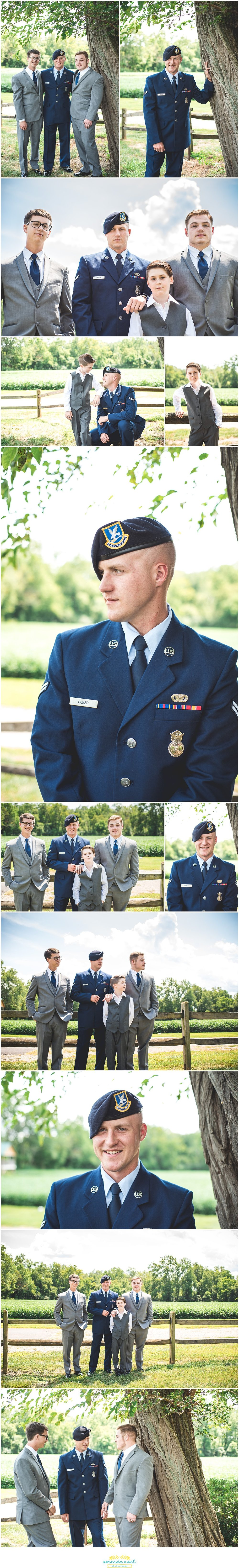Springfield Ohio Wedding groom and groomsmen portrait