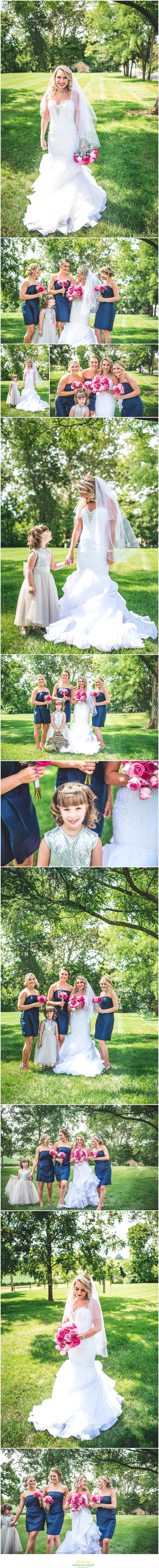 Springfield Ohio wedding bridal party portraits