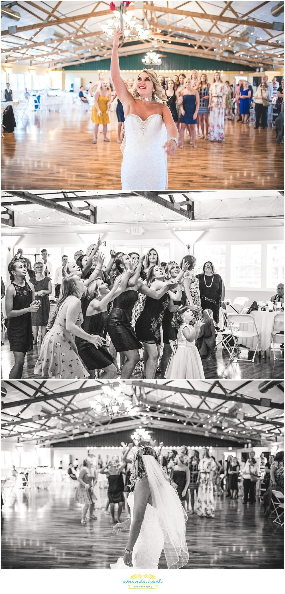 Springfield Ohio wedding bouquet toss