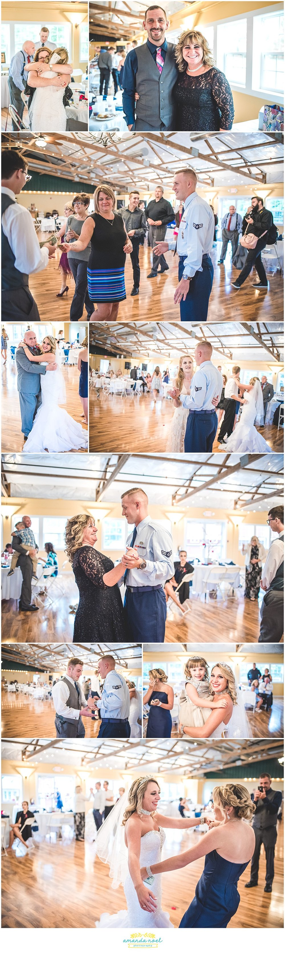 Springfield Ohio wedding candid reception dancing