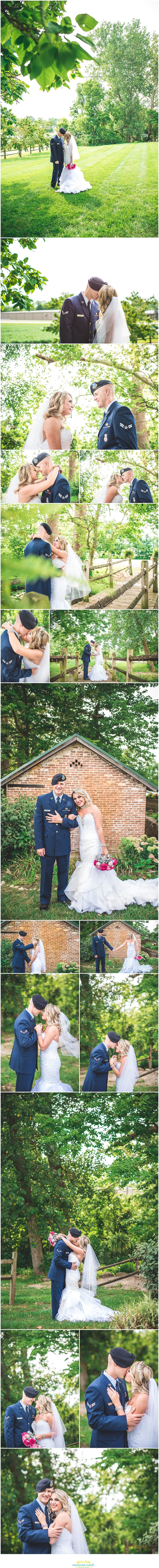 Springfield Ohio wedding couple portraits