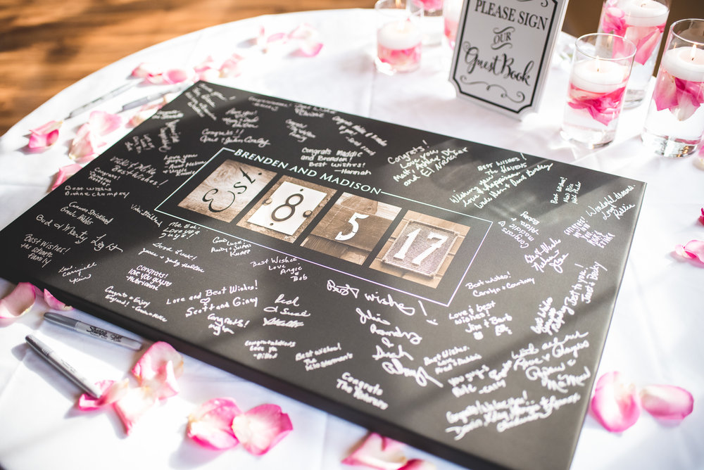 Springfield Ohio wedding unique guestbook