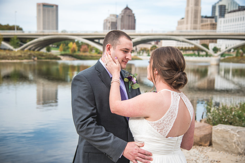 Columbus Ohio Wedding Photography | intimate wedding in the city