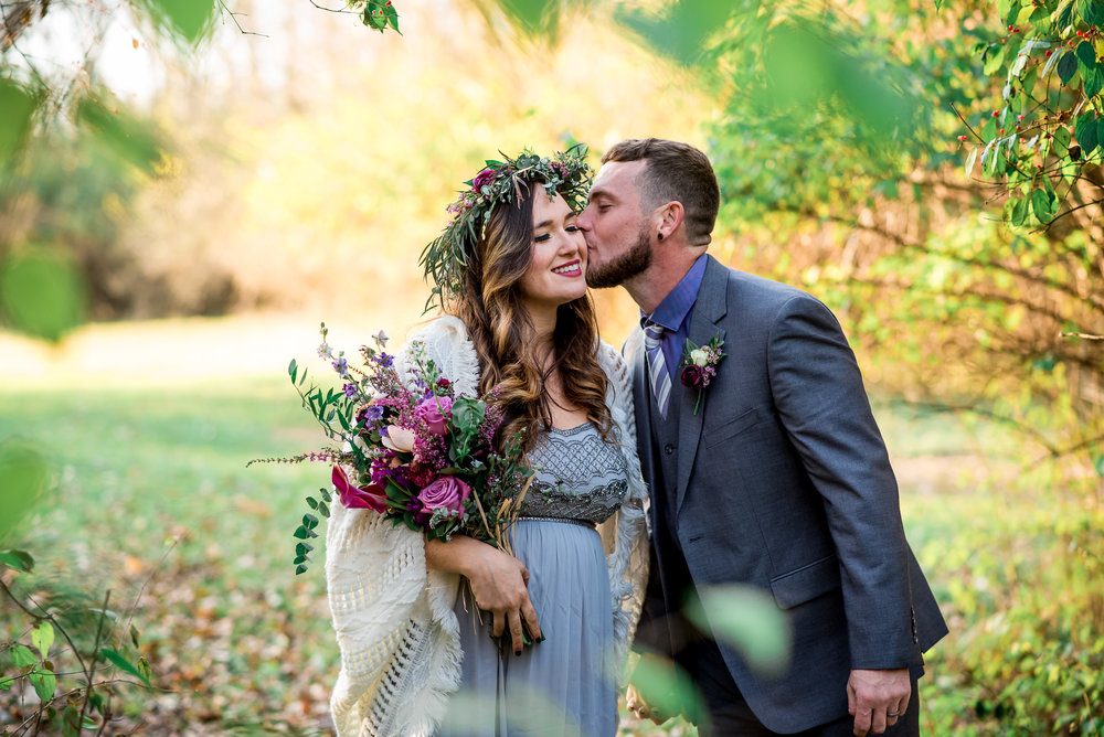 Columbus Ohio Wedding Photography | romantic elopement in the woods