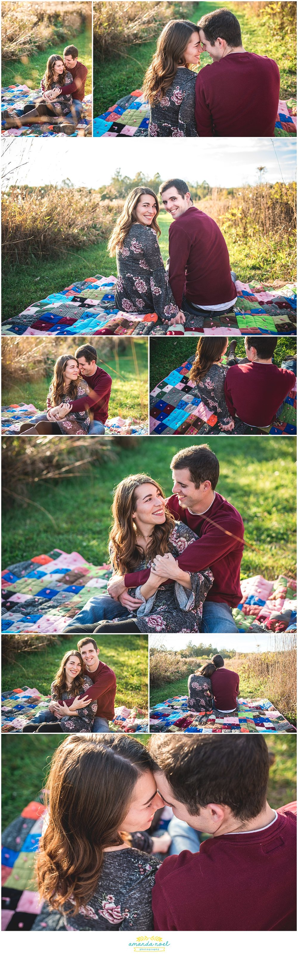 Columbus-Ohio-photographer-couple-session-blanket-in-a-field