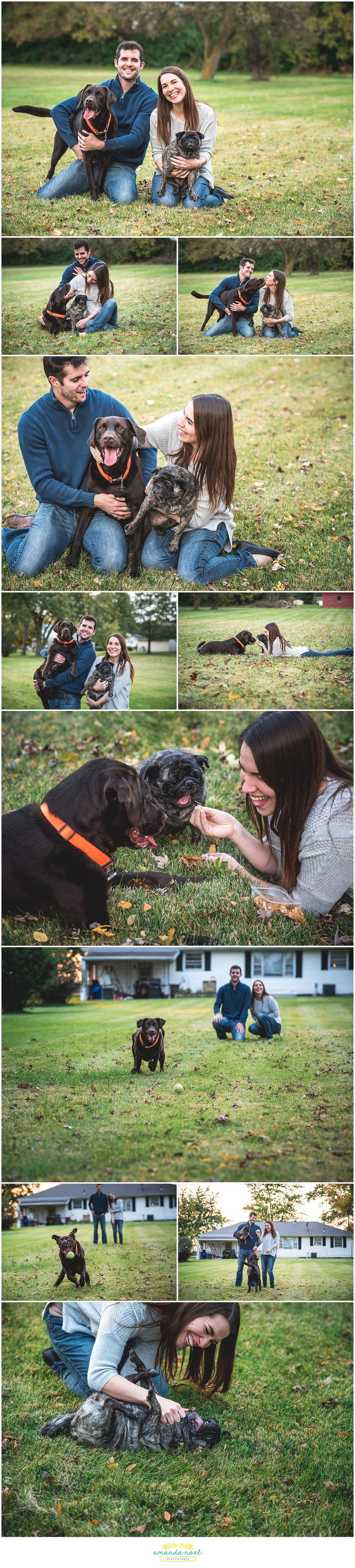 Columbus-Ohio-candid-couple-portraits-at-home-with-dogs