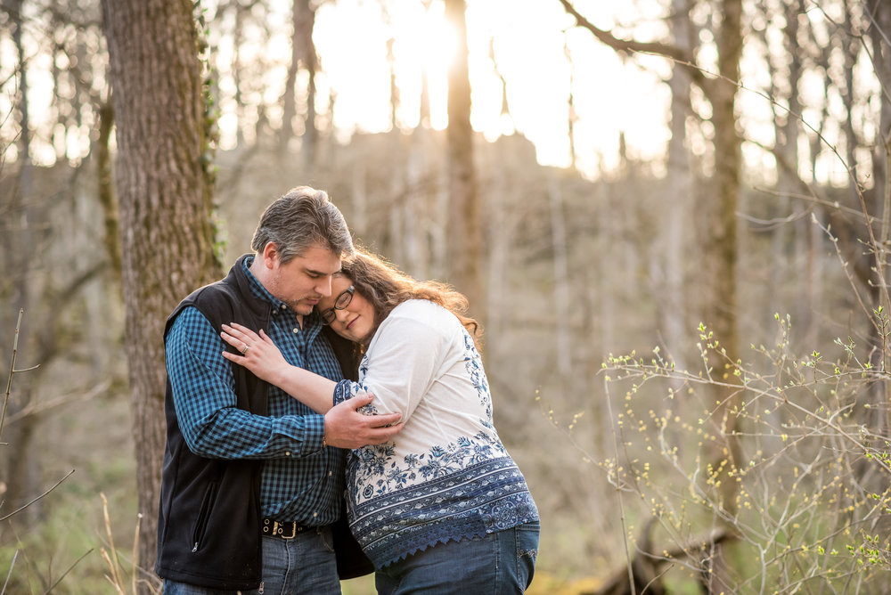 Yellow Springs wedding photographer | Spring Engagement session in Glen Helen