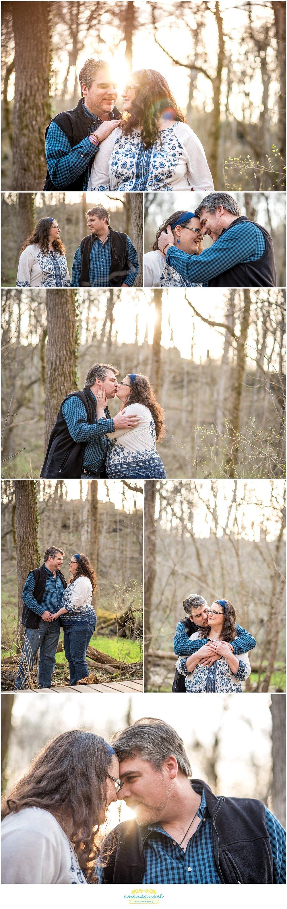 Dayton Wedding photographer | romantic sunset engagement in Glen Helen | Amanda Noel Photography