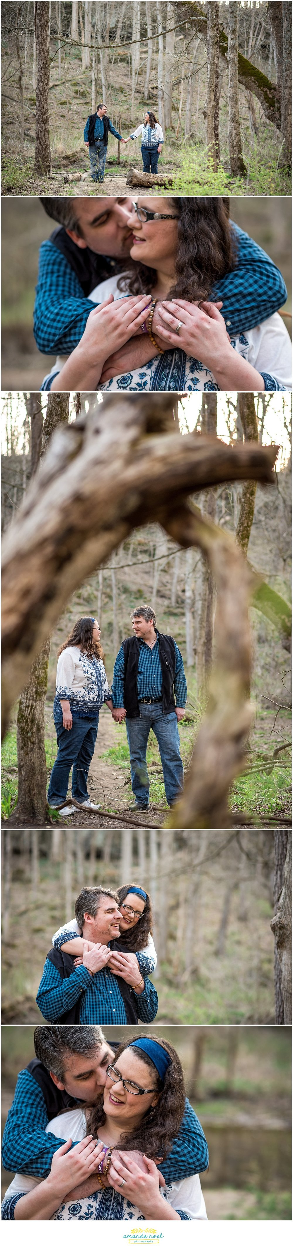Dayton Wedding photographer | natural engagement session in the woods | Amanda Noel Photography