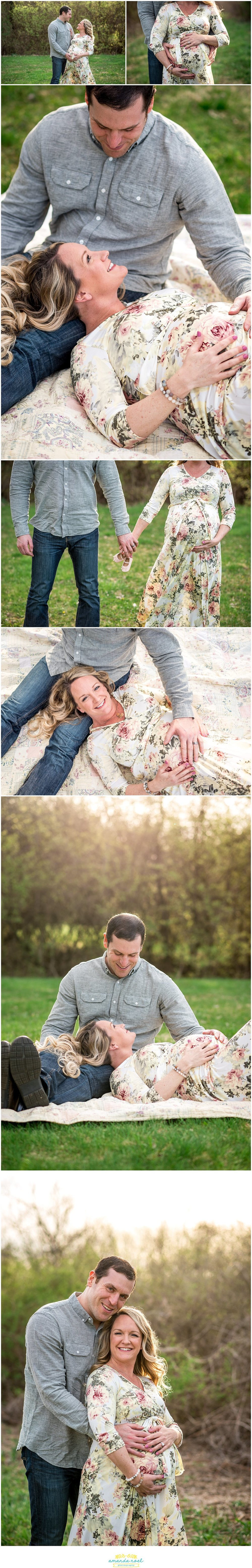 Dayton Ohio maternity photographer | Amanda Noel Photography | Spring sunset maternity session