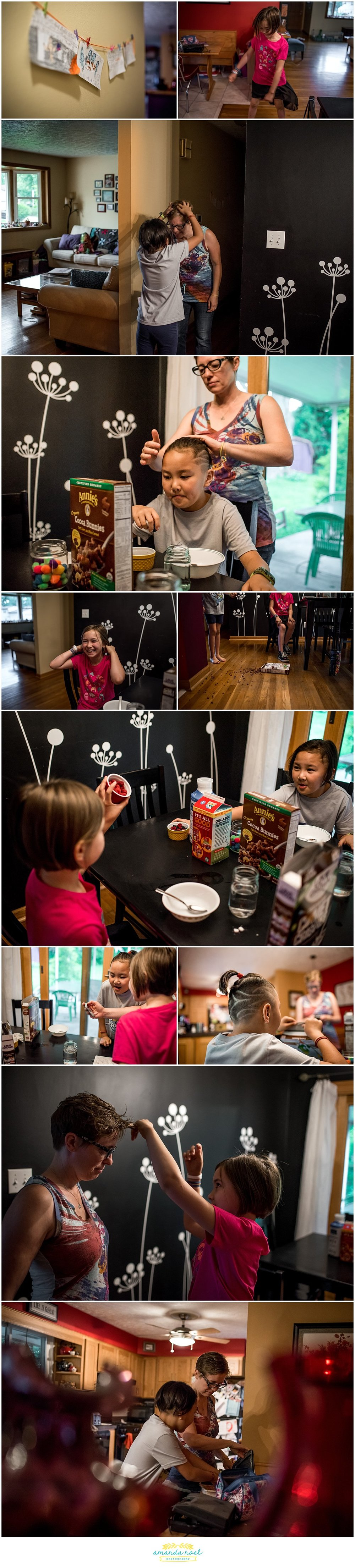 Columbus Ohio family photography | real life - breakfast