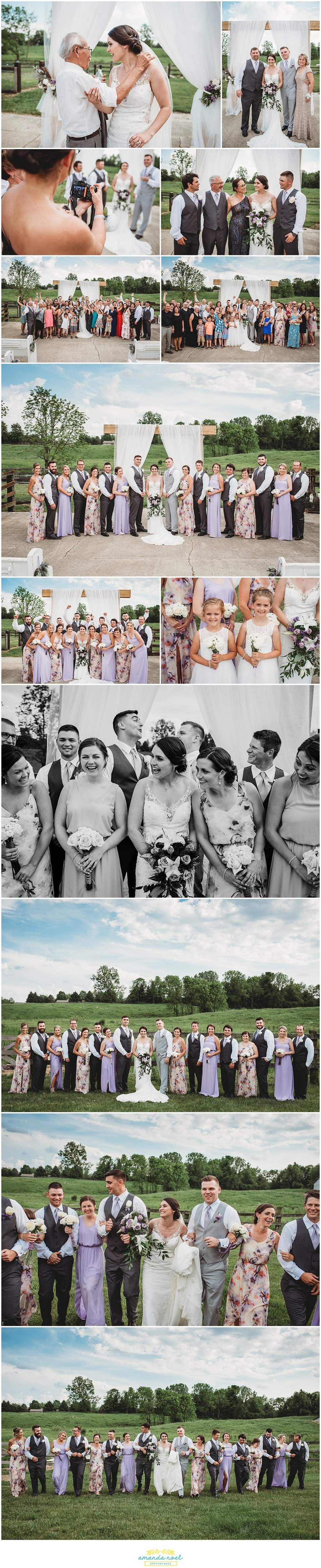 Columbus Ohio Wedding Photographer | outdoor farm wedding | Amanda Noel Photography