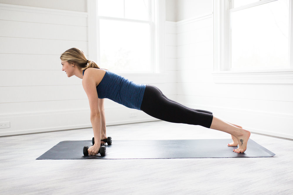 Yoga Toning Moves Plank Rows
