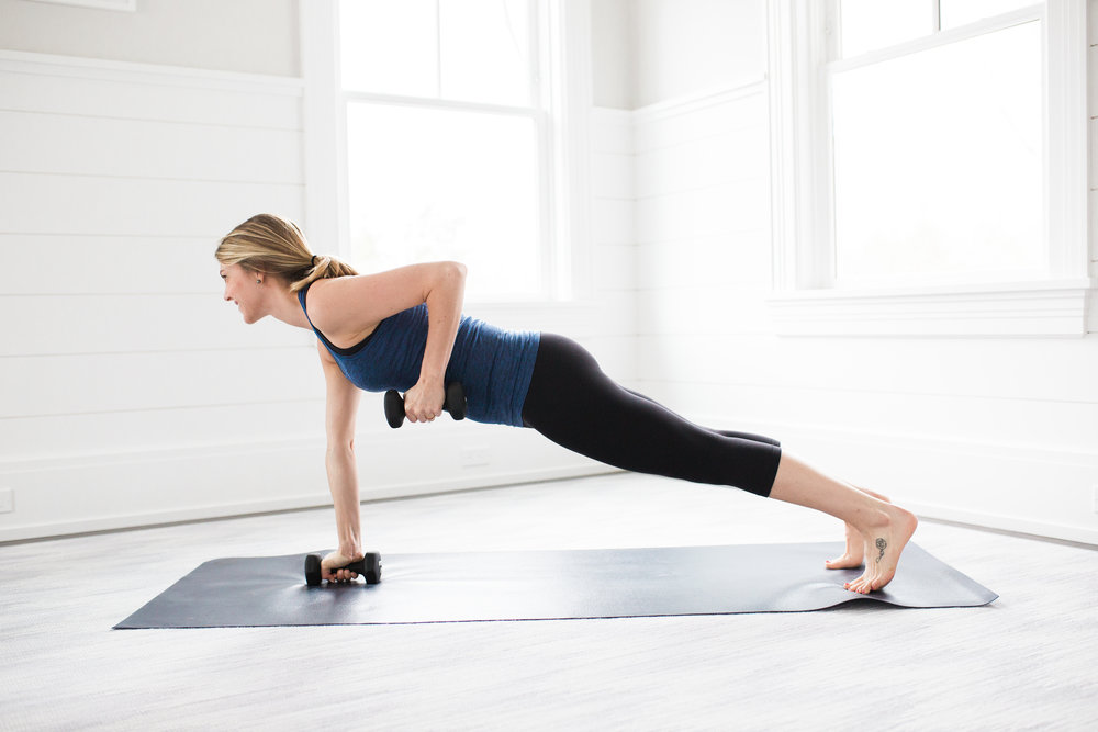 Toning Yoga Moves Plank Row
