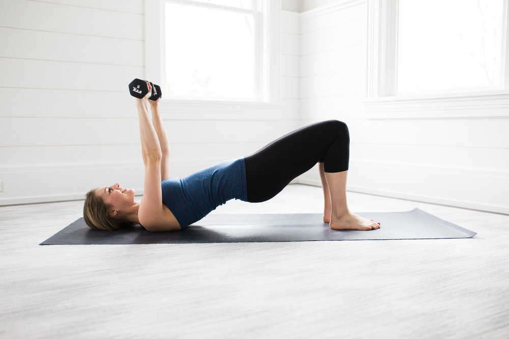 Toning Yoga Moves Chest Press