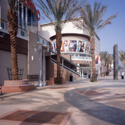 Client:  AMC Theatres   Project:  Burbank Entertainment Village  Location:  Burbank, CA  18,000 S.F. of shell retail space, 20,000 S.F. of restaurant, a three-level 110,520 S.F. parking garage, a 121,143 S.F. 16-plex theatre (with fit-out) and pedestrian mall linked to the downtown core resulted in a 276,000 S.F., four-level, retail/entertainment hub.