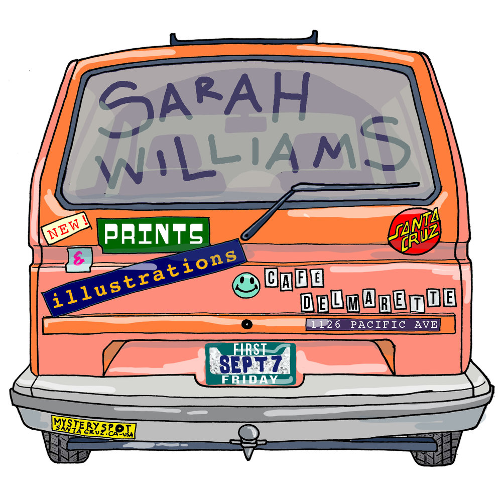 Sarah Williams Solo Show Flyer Design