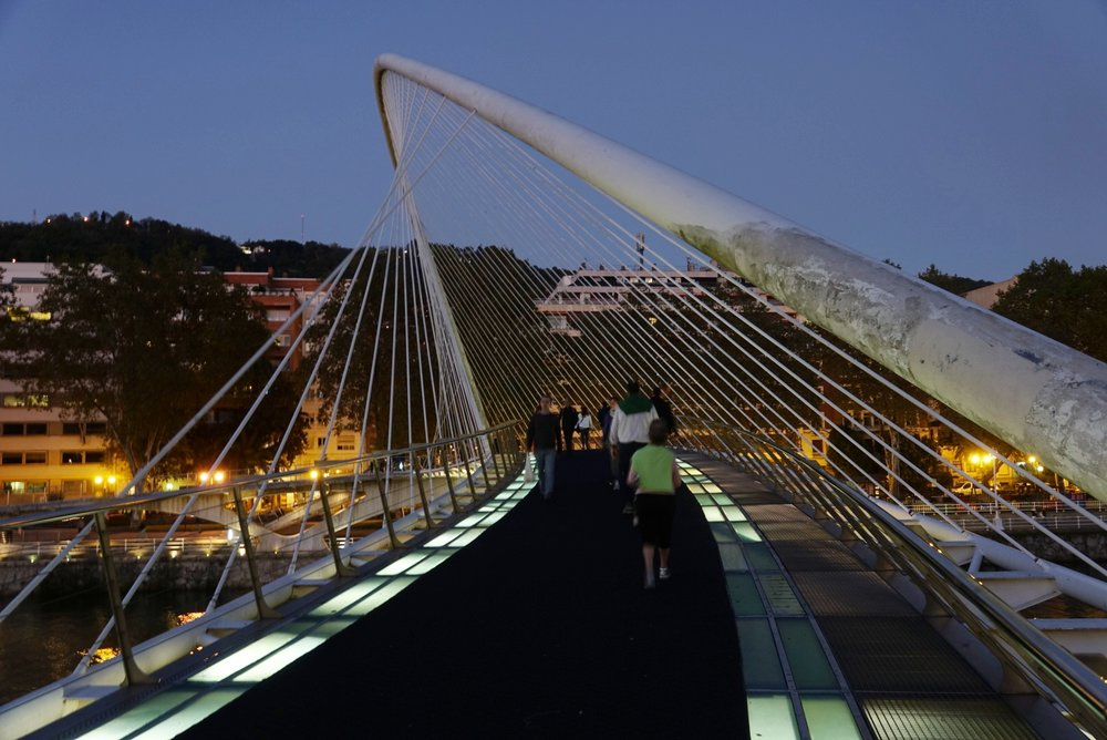 Discovering Bilbao you will end walking through the bridge designed by Santiago Calatrava. -