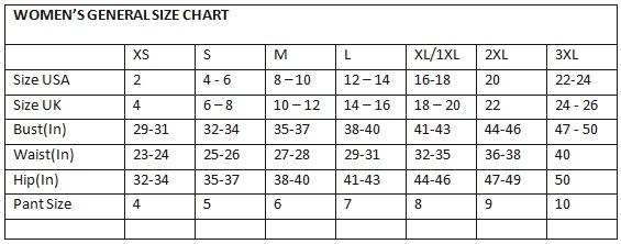 10 12 Size Chart