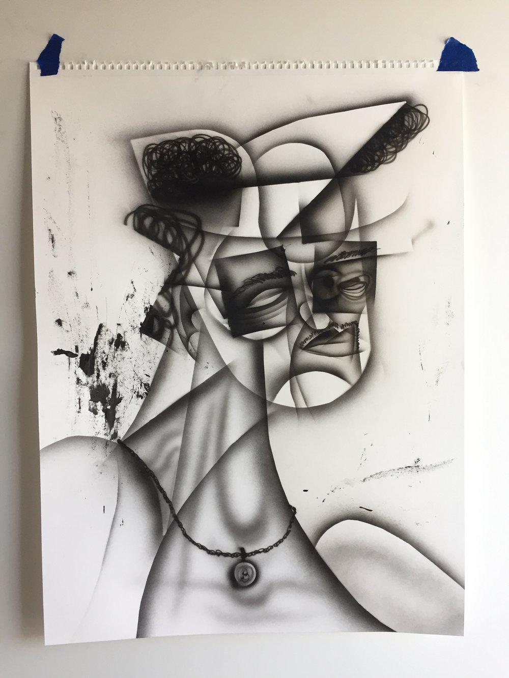 Fantastic Airbrush On Paper 18 X 24 2018 Stephen Palladino