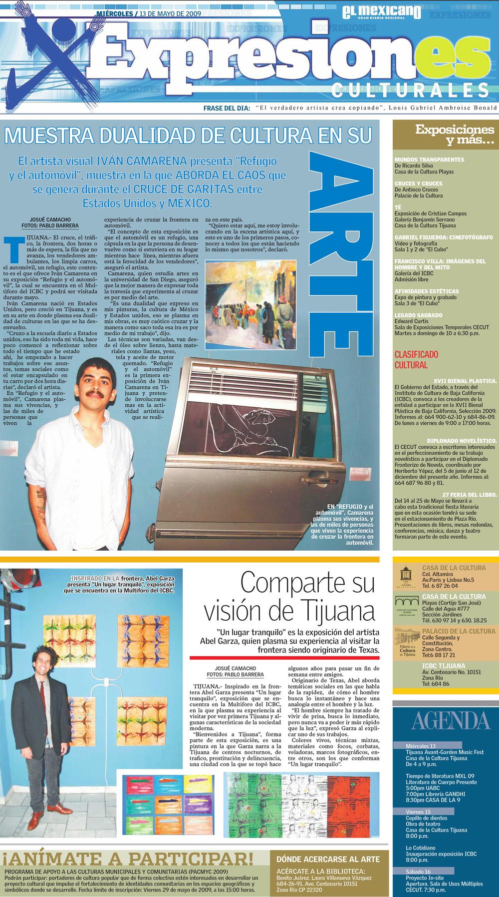 El Mexicano Gran Diario Regional Published in May of 2009