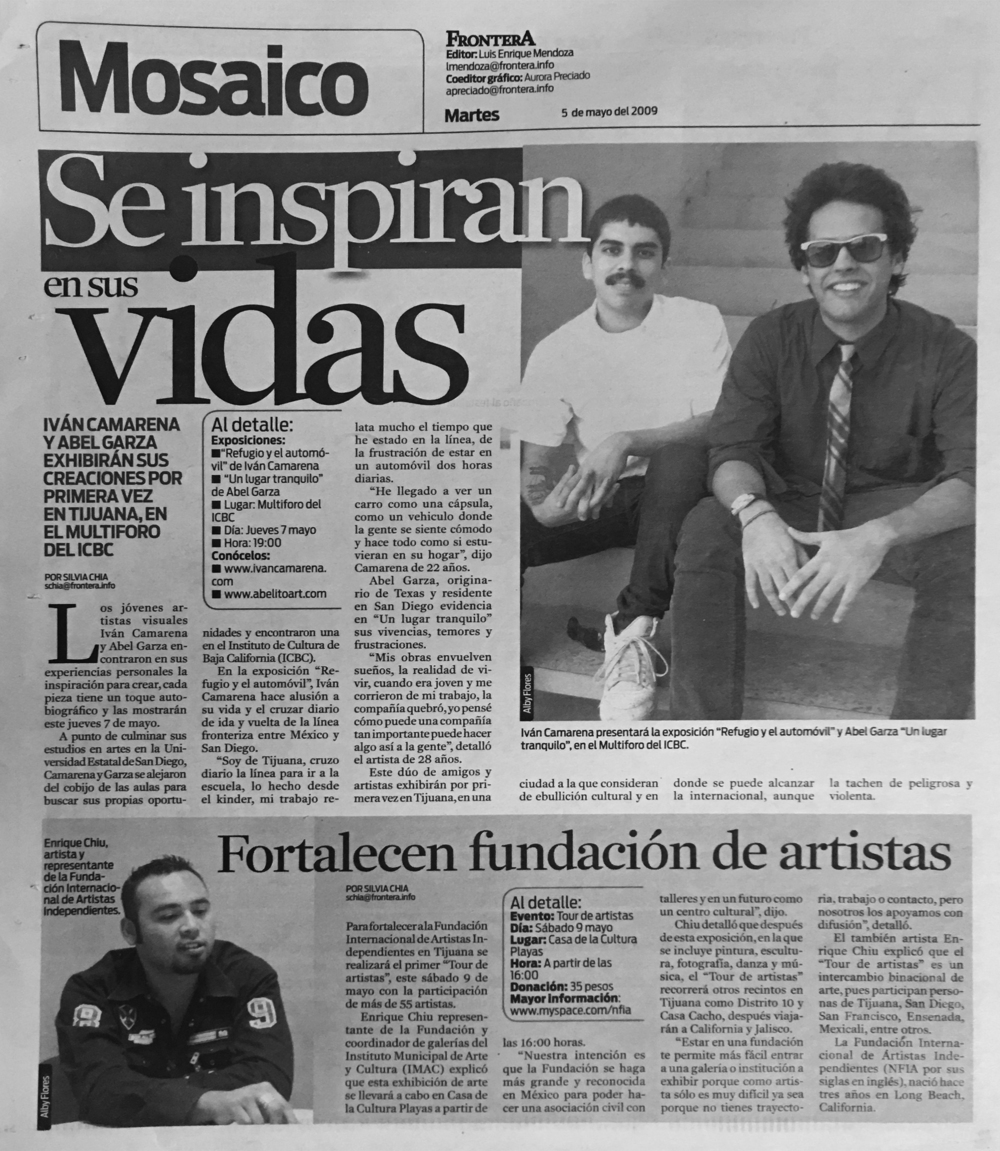 Frontera Diario Independente de Tijuana Published in May 2009