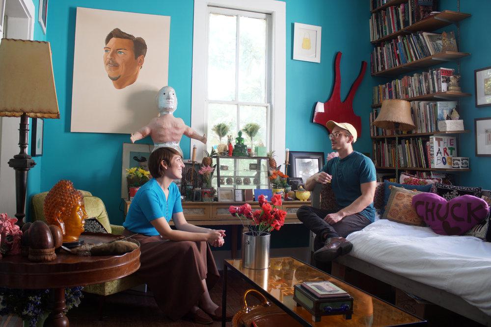 Angela and Mark Walley at Casa Chuck -Photo Courtesy Walley Films