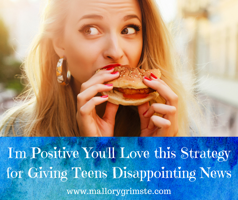 Positivity Sandwich for Disappointing Teens