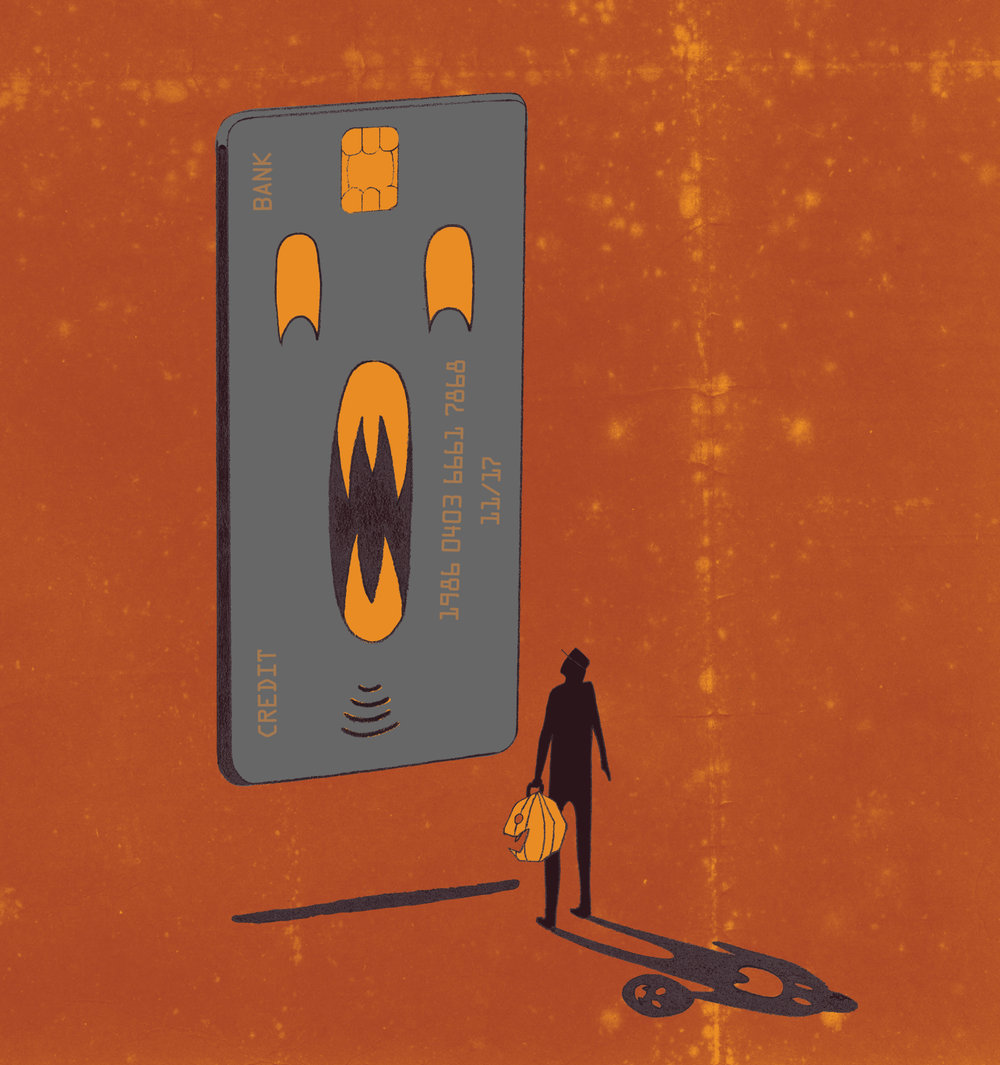 Credit cards are scarier than monsters