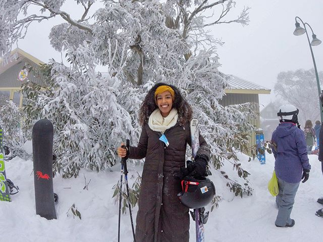 Had an incredible birthday skiing at Mt Buller!! 🗻⛷❄️🎂 Figured that if I was gonna be cold in August, might as well go all in and hit the slopes 😂 This is the first year I was actually able to celebrate my birthday without the looming existential fear of getting older and time escaping me, because I finally feel comfortable with where I'm at in life. Over the past year I've been able to accomplish some of my wildest goals & dreams, and I feel so fortunate to be able to celebrate another year on this planet! I've taken incredible risks quitting my job and moving to the other side of the world ALONE, and a year later I can confidently say that I am living my best life, working my dream job as a photographer, practicing & prioritizing self love & care, and surrounding myself with beautiful souls 💞 shout-out to @fash_ap for braving the cold with me! #24 #AnotherYearOlderAnotherYearWiser #mtbuller #skiing
