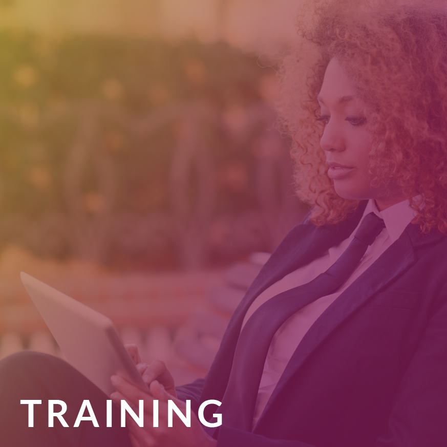 Access training opportunities to help you enhance your knowledge. -