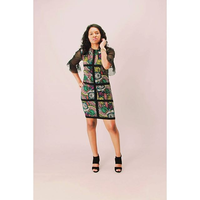 Mode9ine Bahati Patch dress in Green and Blue. Available for sale. #handmade #ankaradress #ankarastyles #womenclothing #madeinnigeria #picoftheday #photo #africandesigns #fashion #style