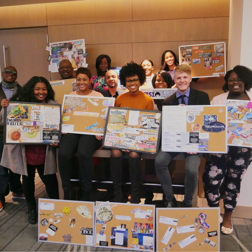 Participants created vision boards at the 2018 Visionary Conference.