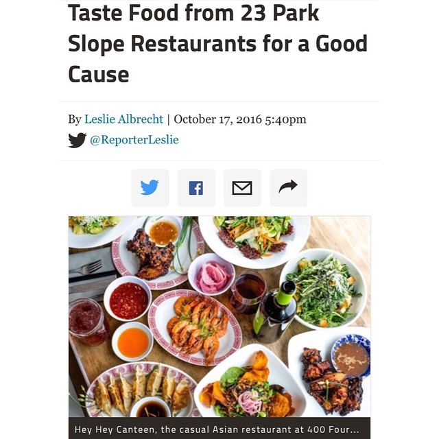 Thanks for the write-up, @dnainfony! 🌟 We hope to see everyone tonight at #FoodForThought in beautiful #ProspectPark 🍁🍂🍃 #heyheycanteen #parkslope #dnainfo