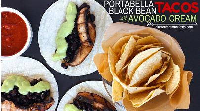 Imge from PlantEatersManifesto.com - Portabella tacos