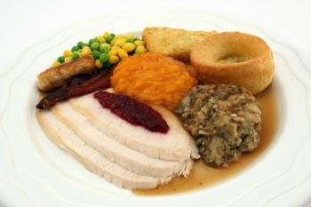 Typical British Roast Dinner - courtesy pixabay.com