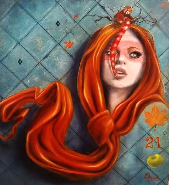 (SOLD) ''Ginger'' 20 x 20 cm