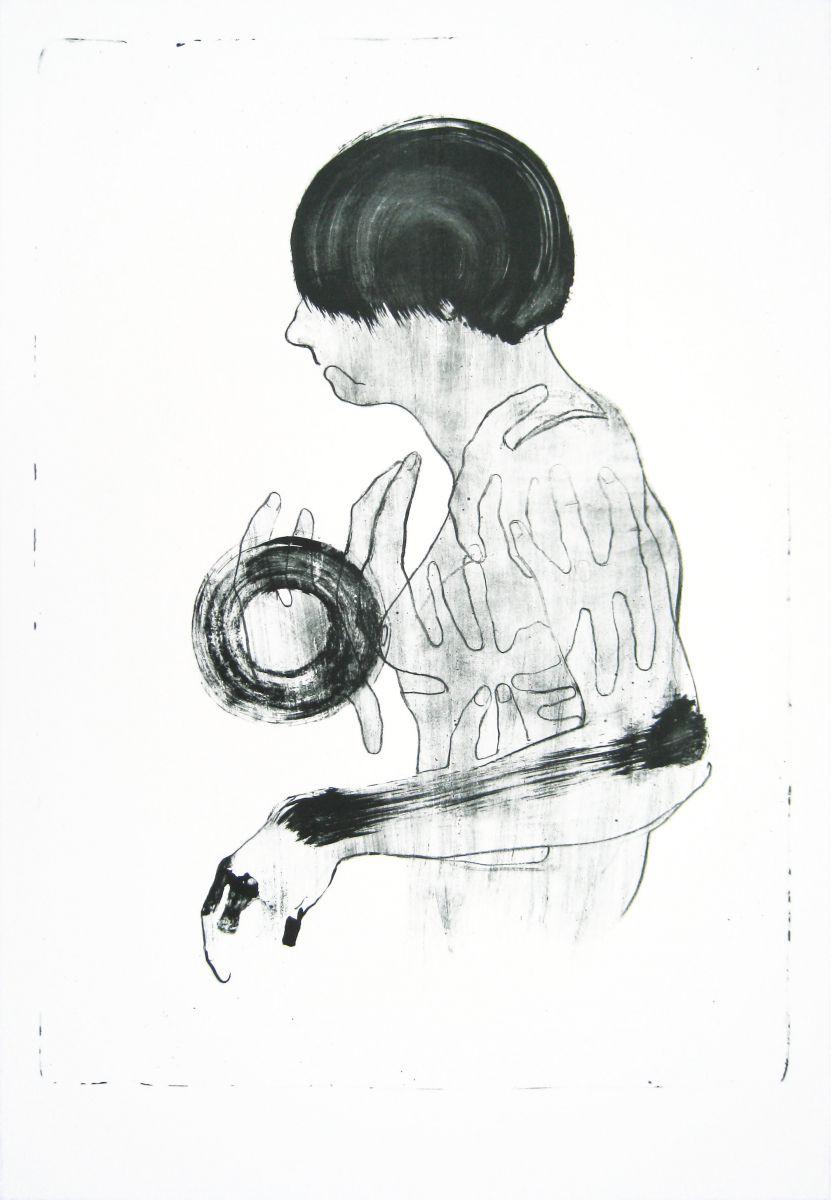 ''Woman & Circle'' 111 x 77 cm