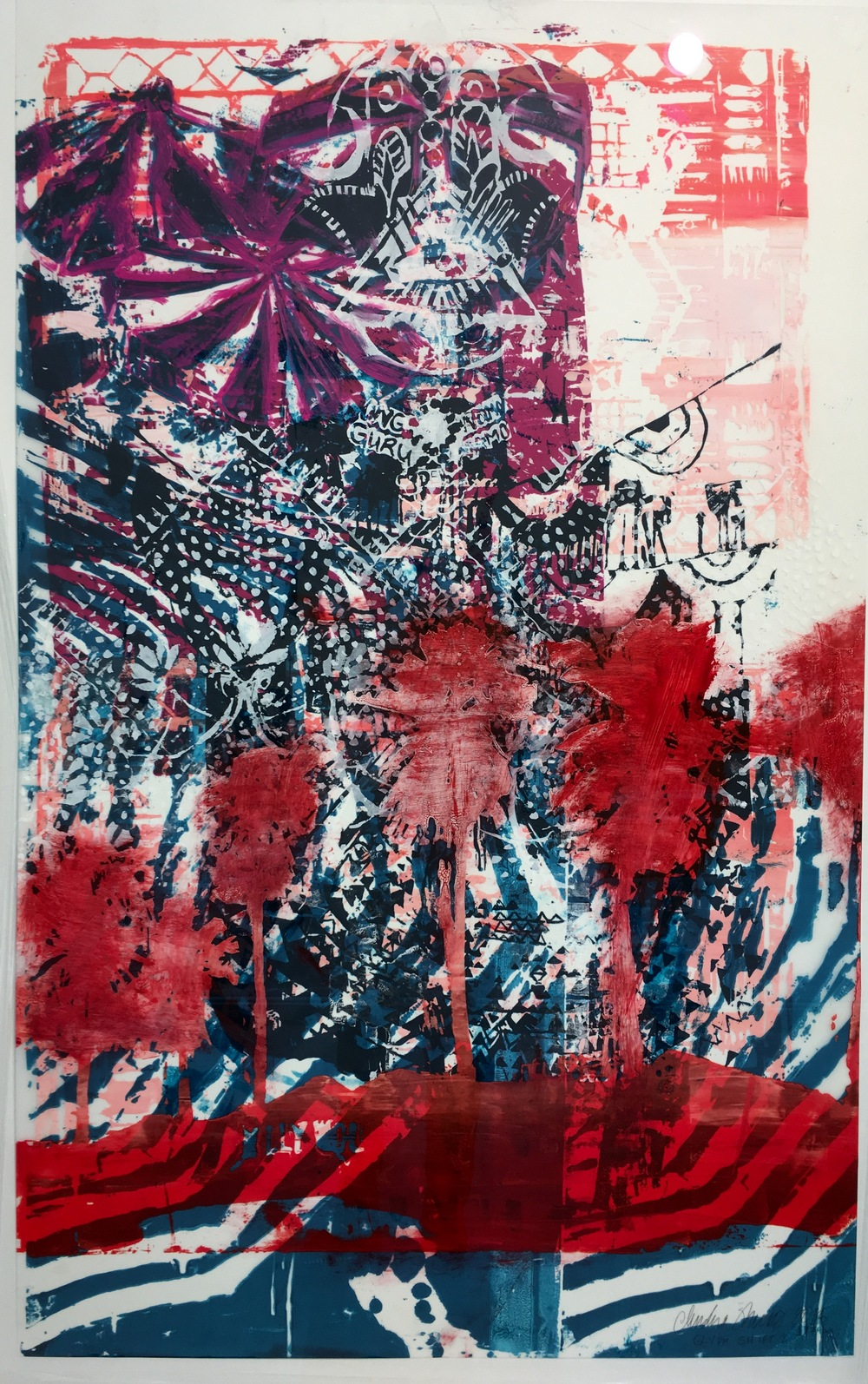 (SOLD) ''Glyph Shift'' 111 x 74 cm